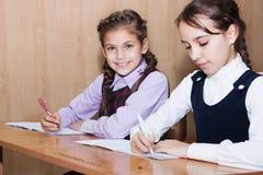 Écriture d'écolière Image stock