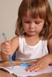 Écriture d'enfant Image libre de droits