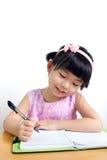 Écriture d'enfant Photographie stock