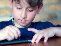 Écriture d'enfant Images libres de droits