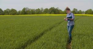 Écriture d'Examining Crops While de chercheur dans le presse-papiers banque de vidéos