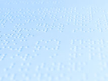 Écriture de Braille Photos stock