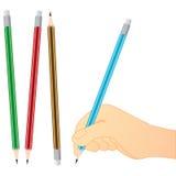 Écriture de crayon Photographie stock libre de droits