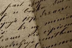 Écriture de cru Image stock