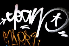 Écriture de graffiti photographie stock libre de droits