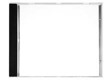 Écriture de labels de disque - cache blanc de disque avec le chemin (vue de face) Photo stock