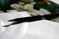 Écriture de lettre Photographie stock