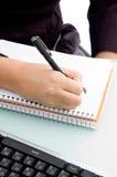 écriture de main Photos libres de droits