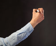 Écriture de main avec le marqueur images libres de droits