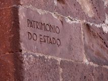 Écriture de mur de briques Photos libres de droits