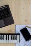 Écriture de musique Image libre de droits
