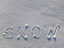 Écriture de neige Images stock