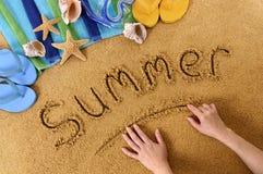 Écriture de plage d'été Photo libre de droits