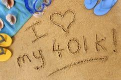 Écriture de plage de retraite Image libre de droits