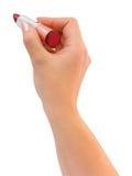 écriture de rouge à lievres de main Photographie stock libre de droits