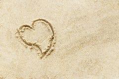 Écriture de signe d'amour Photos libres de droits