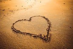 Écriture de signe d'amour Image stock
