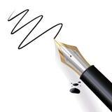 écriture de stylo-plume Photographie stock libre de droits