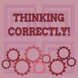 Écriture des textes d'écriture pensant correctement Le principe de signification de concept que vous pensez sont raisonnable et m illustration de vecteur