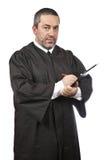 Écriture mâle sérieuse de juge Photo libre de droits