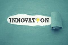 Écritures avec l'innovation images stock