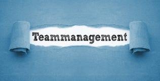 Écritures avec le teammanagement images libres de droits