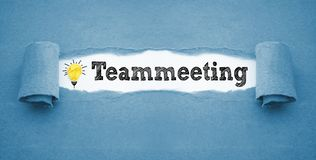 Écritures avec teammeeting photo stock