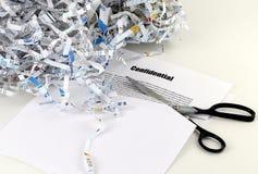 Écritures confidentielles Photo stock