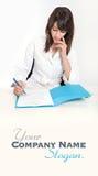 Écritures de soins de santé Photographie stock libre de droits