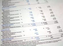 Écritures financières Photographie stock libre de droits