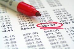 Écritures financières Photo stock