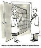Écritures médicales Image stock