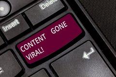 Écrivant le contenu d'apparence de note allé viral Lien visuel de présentation d'image de photo d'affaires qui écarte rapidement  photographie stock libre de droits