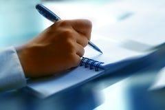 Écrivez dans la note image libre de droits