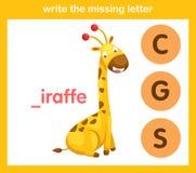 Écrivez la lettre absente Photos stock
