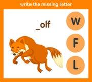 Écrivez la lettre absente Photo libre de droits