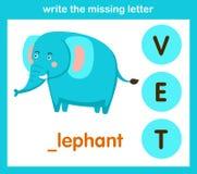 Écrivez la lettre absente Images stock