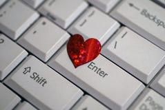 Écrivez mon coeur le jour de Valentine Image stock