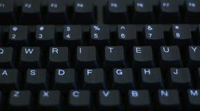 Écrivez sur le clavier Photos libres de droits