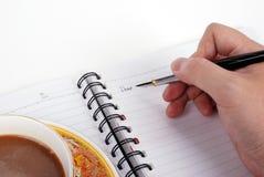 Écrivez une lettre Images stock