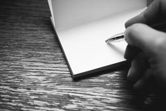 Écrivez une note photos stock