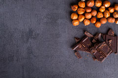 Écrou et chocolat Images libres de droits
