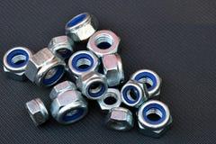 Écrous de verrouillage en nylon Image stock