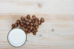 Écrous et lait Image libre de droits