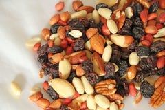 Écrous et raisins secs Images libres de droits