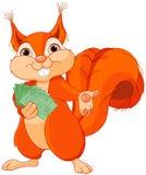 Écureuil avec des billets illustration stock