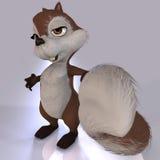 Écureuil avec l'arrière touffu Image stock