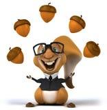 Écureuil d'amusement illustration de vecteur