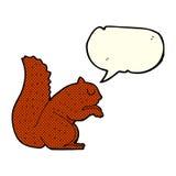 écureuil de bande dessinée avec la bulle de la parole Photographie stock