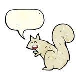 écureuil de bande dessinée avec la bulle de la parole Photo stock